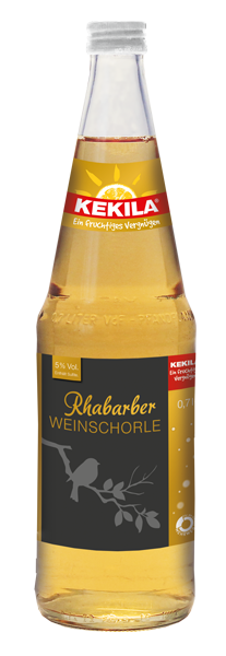 Rhabarber Weinschorle