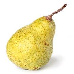 Eine Birne, enthalten in verschiedenen Fruchtsaft Sorten von Kekila